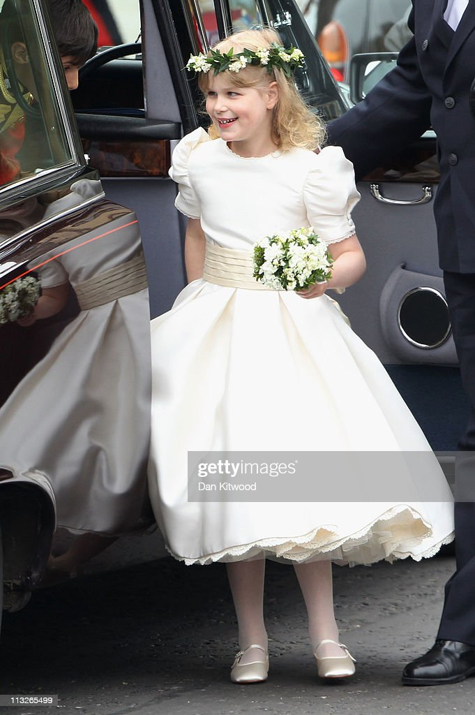 Lady Louise Windsor arrives to attend the Royal Wedding of Prince William to Catherine Middleton at Westminster Abbey on April 29 2011 in London...