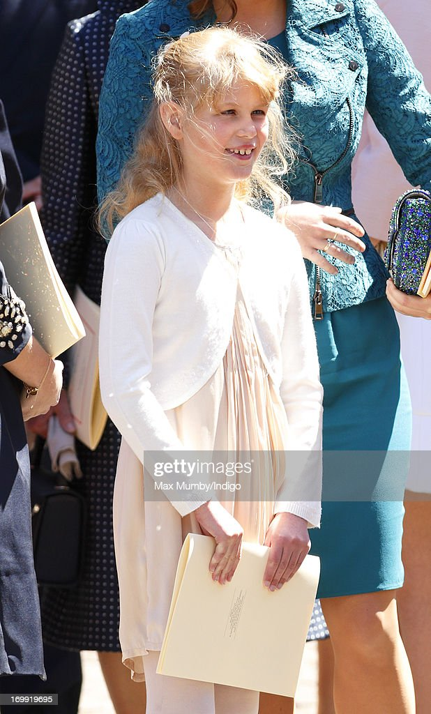Lady Louise Windsor attends a service of celebration to mark the 60th anniversary of the Coronation of Queen Elizabeth II at Westminster Abbey on June 4, 2013 in London, England. The Queen's Coronation took place on June 2, 1953 after a period of mourning for her father King George VI, following her ascension to the throne on February 6, 1952. The event 60 years ago was the first time a coronation was televised for the public.