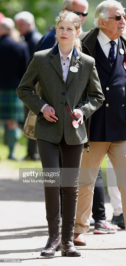 Lady Louise Windsor attends day 4 of the Royal Windsor Horse Show in Home Park on May 14 2016 in Windsor England