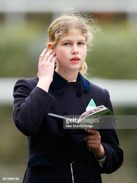 Lady Louise Windsor attends the Christmas Racing Weekend at Ascot Racecourse on December 19 2015 in Ascot England