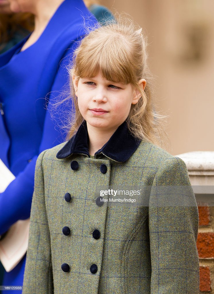 Lady Louise Windsor attends the Easter Matins Church Service at St George's Chapel, Windsor Castle on March 31, 2013 in Windsor, England.