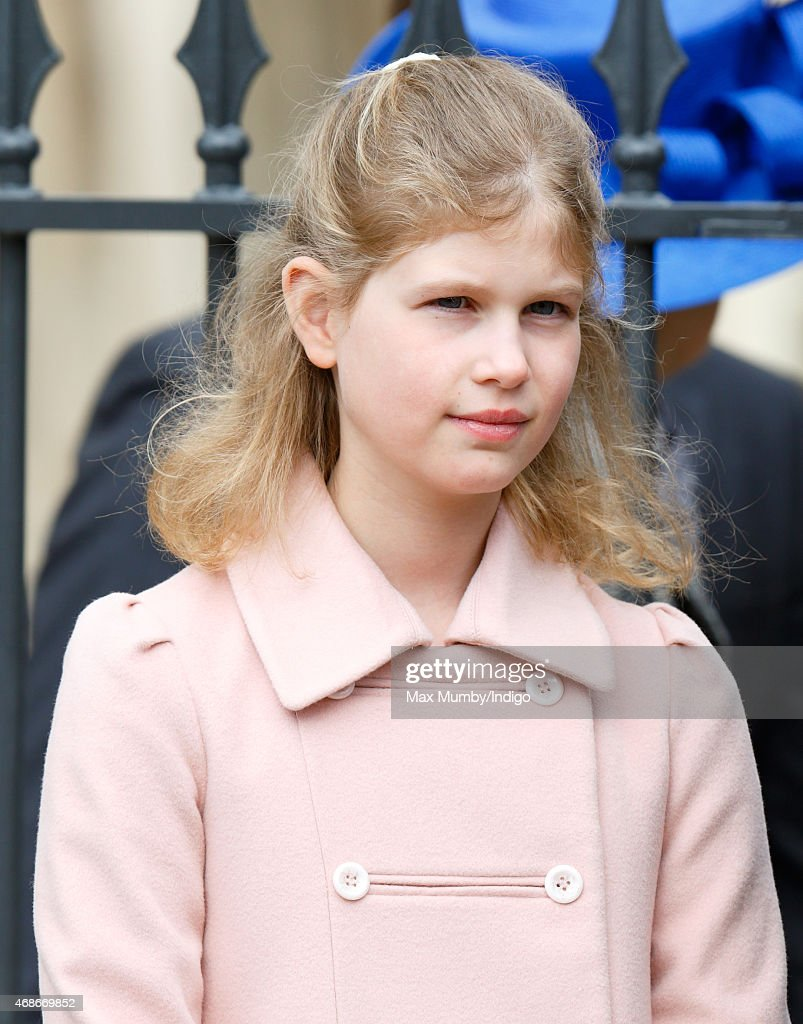 Lady Louise Windsor attends the Easter Matins service at St George's Chapel Windsor Castle on April 5 2015 in Windsor England