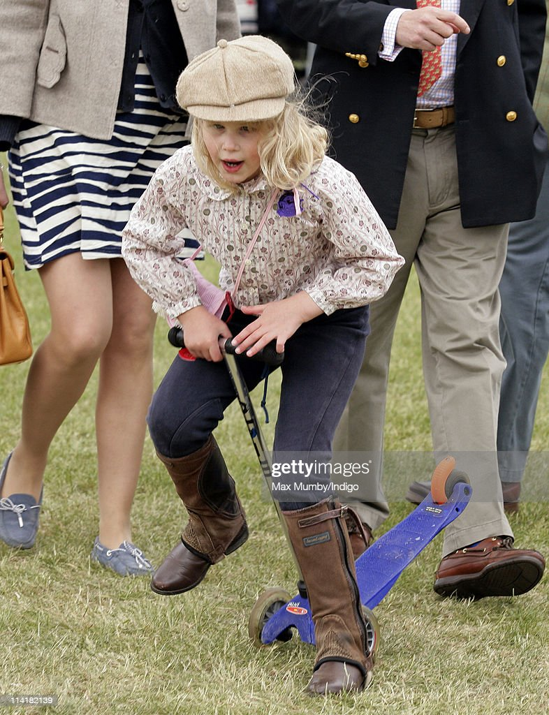 Lady Louise Windsor rides on a Micro Scooter as she attends day 4 of the Royal Windsor Horse Show on May 14 2011 in Windsor England