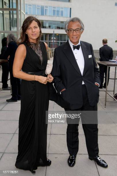 Lady Lucy Tang and Sir David Tang attend the Special Preview to the exhibition Love is What You Want by Tracey Emin at the Hayward Gallery on May 16...