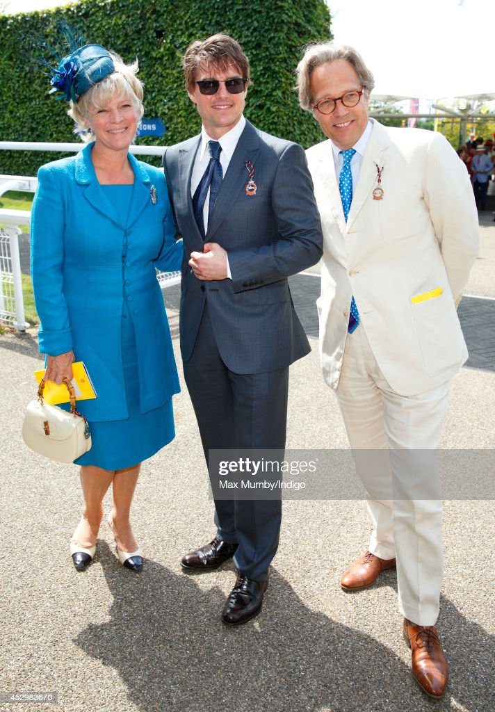Lady March, <a gi-track='captionPersonalityLinkClicked' href=/galleries/search?phrase=Tom+Cruise&family=editorial&specificpeople=156405 ng-click='$event.stopPropagation()'>Tom Cruise</a> and Lord March attend Ladies Day of Glorious Goodwood at Goodwood Racecourse on July 31, 2014 in Chichester, England.