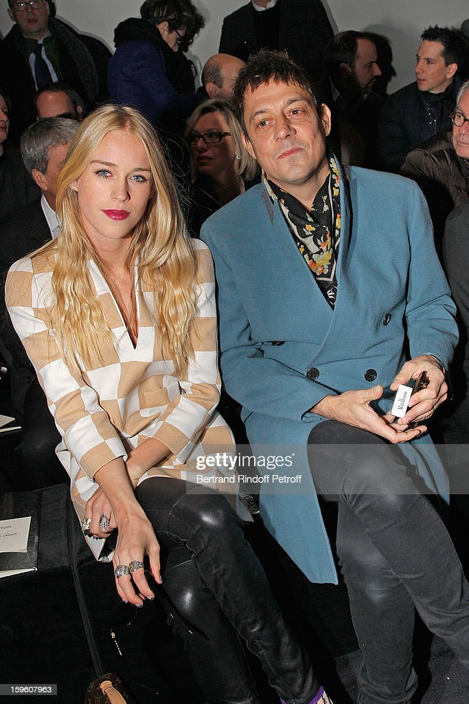 Lady Mary Charteris (L) and Jamie Hince attend the Louis Vuitton Men Autumn / Winter 2013 show as part of Paris Fashion Week on January 17, 2013 in Paris, France.