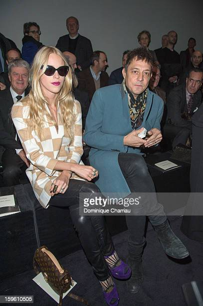 Lady Mary Charteris and Jamie Hince attend the Louis Vuitton Men Autumn / Winter 2013 show as part of Paris Fashion Week on January 17 2013 in Paris...