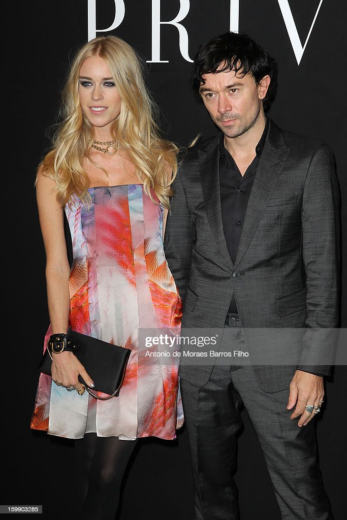 Lady <a gi-track='captionPersonalityLinkClicked' href=/galleries/search?phrase=Mary+Charteris&family=editorial&specificpeople=4361110 ng-click='$event.stopPropagation()'>Mary Charteris</a> and Robbie Furze attend Giorgio Armani Prive Spring/Summer 2013 Haute-Couture show as part of Paris Fashion Week at Theatre National de Chaillot on January 22, 2013 in Paris, France.