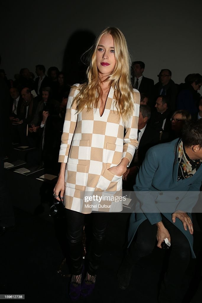 Lady Mary Charteris attends the Louis Vuitton Men Autumn / Winter 2013 show as part of Paris Fashion Week on January 17, 2013 in Paris, France.