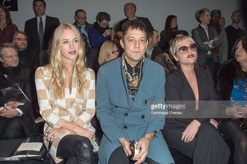 Lady Mary Charteris (L) Jamie Hince and Jaime Winstone attend the Louis Vuitton Men Autumn / Winter 2013 show as part of Paris Fashion Week on January 17, 2013 in Paris, France.