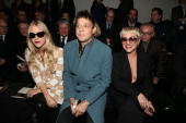 Lady Mary Charteris Jamie Hince and Jaime Winstone attend the Louis Vuitton Men Autumn / Winter 2013 show as part of Paris Fashion Week on January 17...