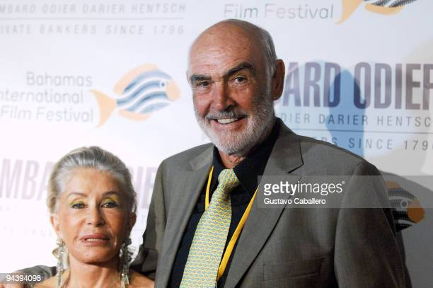 Lady Micheline and Sir Sean Connery attend the Johnny Depp tribute during the 6th Annual Bahamas International Film Festival at Atlantis Paradise...