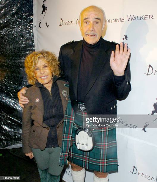 Lady Micheline Connery and Sir Sean Connery during Johnnie Walker Presents 'Dressed to Kilt' Arrivals and Backstage at Synod House at St John the...