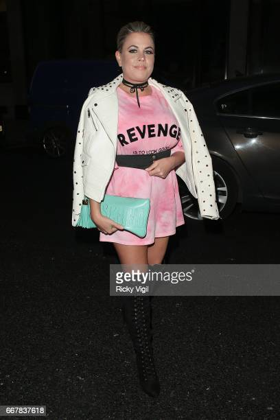Lady Nadia Essex attends James Ingham's JogOn to Cancer part 5 at Kensington Roof Gardens on April 12 2017 in London England