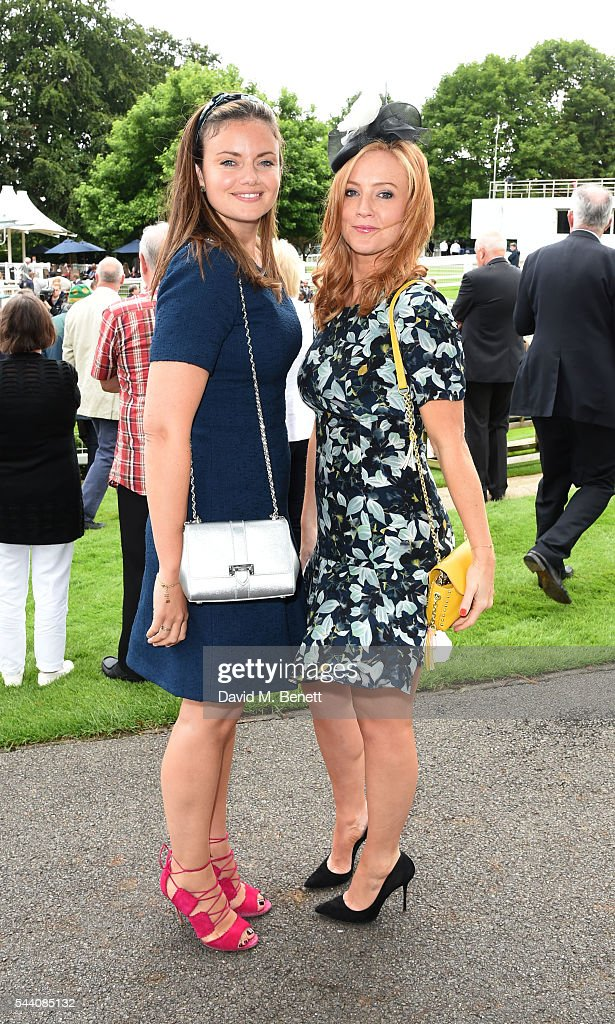 Lady Natasha Rufus Isaacs and Sarah-Jane Mee attend the Sandown Park Racecourse Ladies' Day STYLE AWARD Hosted by Rosie Fortescue at Sandown Park on July 1, 2016 in Esher, England.