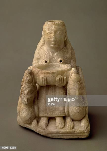 Lady of Galera Female figure dated on the 7th century BC Alabaster Found in a Tomb 20 of a Necropolis of Tutugi National Archaeological Museum Madrid...