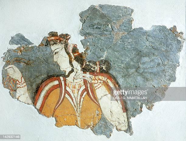 Lady of the court fresco from the Mycenae Palace Mycenaean Civilization 13th Century BC Athens Ethnikó Arheologikó Moussío