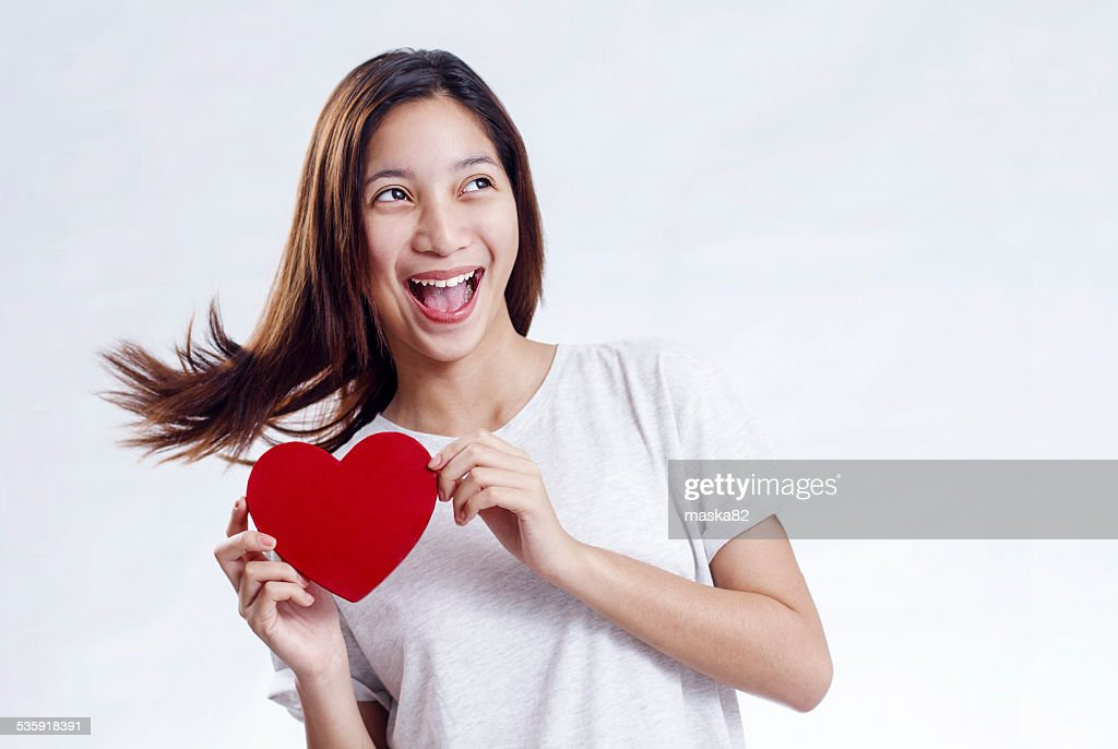 Lady On Valentines Day : Stock Photo