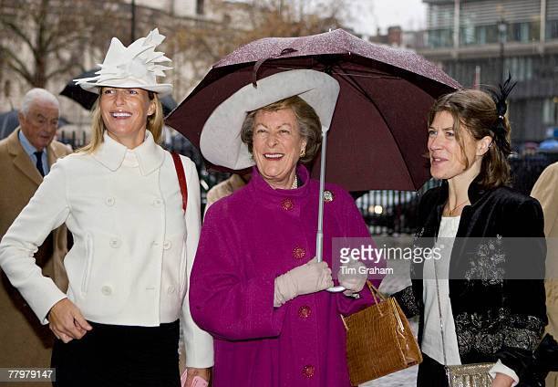 Lady Pamela Hicks a bridesmaid at the Queen's wedding and her daughters Mrs Edwina Brudenell and Ms India Hicks attend a service of thanksgiving at...