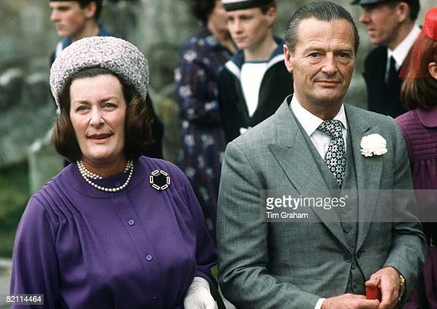 Lady Pamela Hicks With Her Husband David Hicks At Wedding Of Norton Knatchbull
