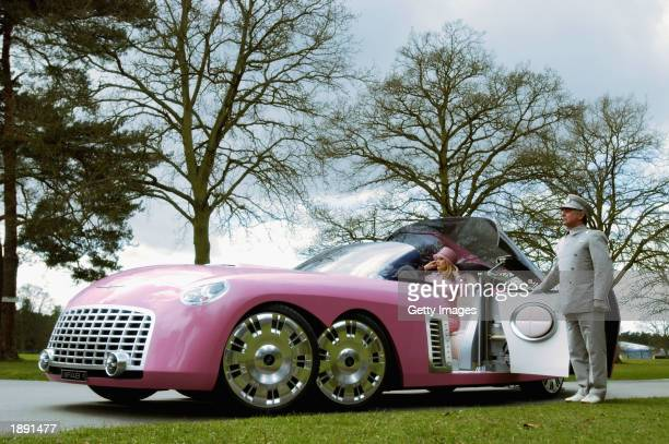 Lady Penelope Parker and the allnew limousine FAB 1 were unveiled on the set of the 'Thunderbirds' movie on April 2 2003 at a secret location This is...