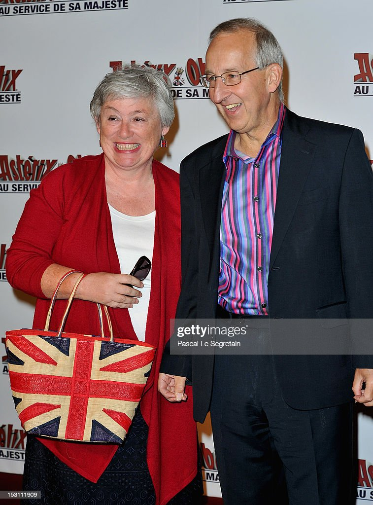 Lady Ricketts (L) and British ambassador France Sir Peter Ricketts attend 'Asterix & Obelix: Au Service De Sa Majeste' at Le Grand Rex on September 30, 2012 in Paris, France.