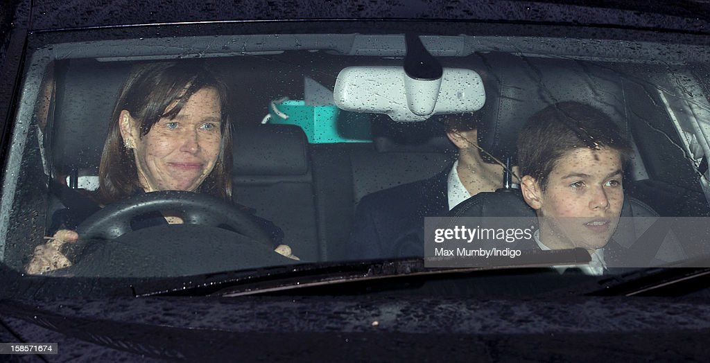 Lady Sarah Chatto and <a gi-track='captionPersonalityLinkClicked' href=/galleries/search?phrase=Arthur+Chatto&family=editorial&specificpeople=215649 ng-click='$event.stopPropagation()'>Arthur Chatto</a> attend a Christmas lunch for members of the Royal Family hosted by Queen Elizabeth II at Buckingham Palace on December 19, 2012 in London, England.