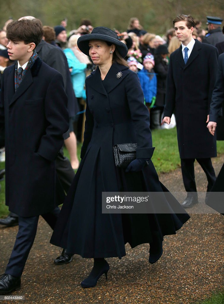 Lady Sarah Chatto attends a Christmas Day church service at Sandringham on December 25, 2015 in King's Lynn, England.