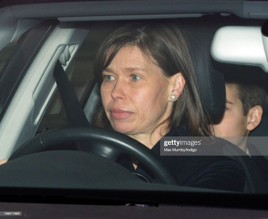 Lady Sarah Chatto attends a Christmas lunch for members of the Royal Family hosted by Queen Elizabeth II at Buckingham Palace on December 19, 2012 in London, England.
