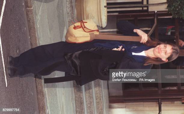 Lady Sarah Chatto leaves King Edward VII Hospital For Officers in Central London today after visiting her mother Princess Margaret who is recovering...