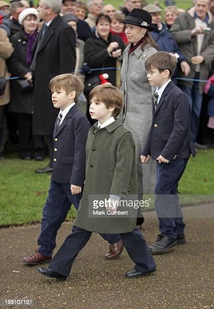 Lady Sarah Chatto Samuel Chatto Arthur Chatto Charles ArmstrongJones Attend The Christmas Day Service At Sandringham Church