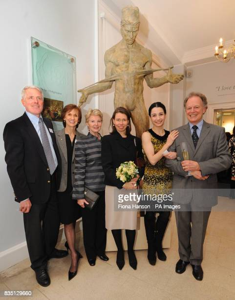 Lady Sarah Chatto VicePresident of the Royal Ballet School from left the Project Leader of the Museum and Assistant Director of the school Jay Jolley...