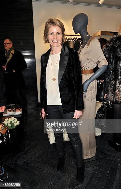 Lady Serena Linley attends the opening of the new Amanda Wakeley store on January 30 2014 in London England
