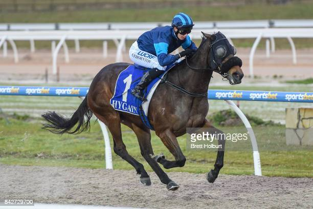 Lady Skills ridden by Stephanie Thornton wins the XXXX Gold FM BM64 Handicap at Racingcom Park Synthetic Racecourse on September 05 2017 in Pakenham...