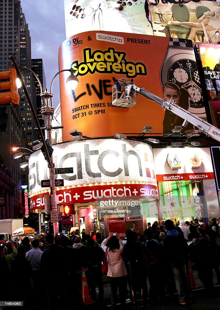 Lady Sovereign at the Times Square in New York City, New York