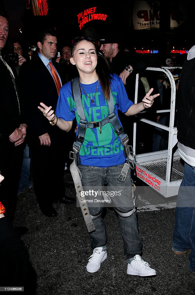 Lady Sovereign during Lady Sovereign Sighting In New York City - October 31, 2006 at Times Square in New York City, New York, United States.