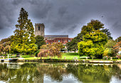 Lady St Mary church Wareham Dorset historic market town situated on the River Frome near Poole in colourful HDR