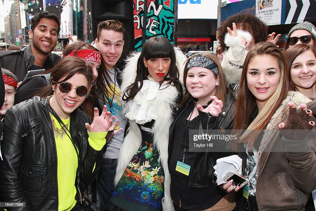 Lady Starlight attends Lady Gaga's Born Brave Bus Tour in Times Square on March 23, 2013 in New York City.