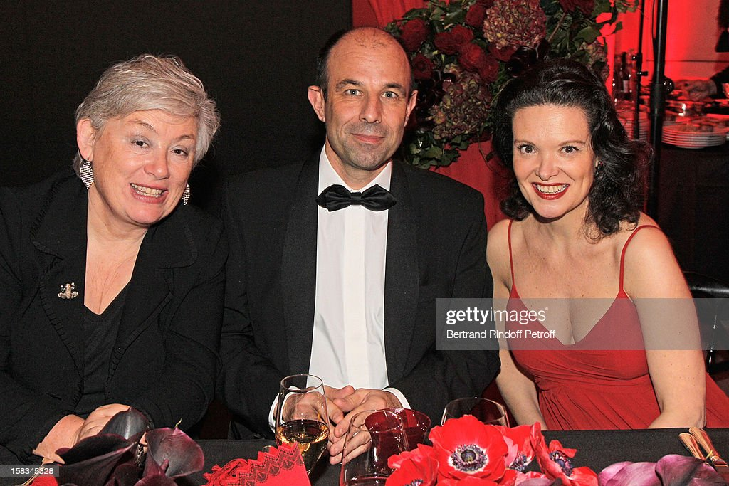 Lady Suzanne Ricketts, Christophe Tardieu, Deputy Director of the Paris Opera House, and soprano Isabelle Cals attend the Arop Gala Event for Carmen New Production Launch at Opera Bastille on December 13, 2012 in Paris, France.