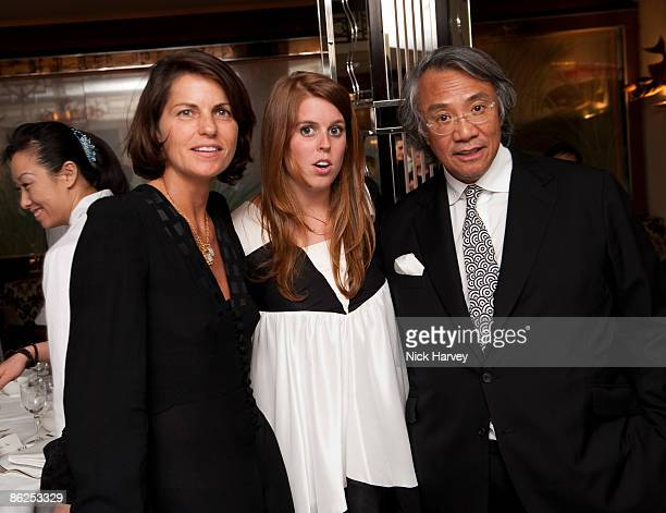 Lady Tang Princess Beatrice and Sir David Tang attend a dinner for Michael Kors at China Tang at the Dorchesteron April 27 2009 in London England