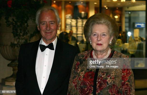 Lady Thatcher and Sir Michael Spicer arrive at a dinner organised by the 1922 Committee of Conservative peers and MPs in tribute to Baroness Thatcher...