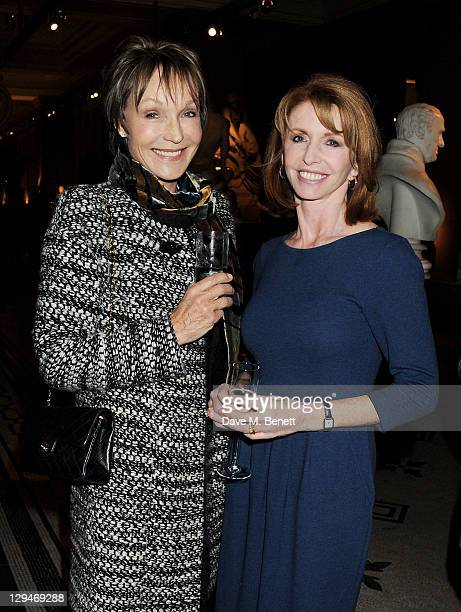 Lady Victoria Getty and Jane Asher attend a private viewing of 'Private Eye The First 50 Years' marking the 50th anniversary of Private Eye magazine...