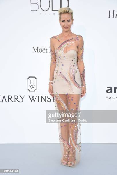 Lady Victoria Harvey arrives at the amfAR Gala Cannes 2017 at Hotel du CapEdenRoc on May 25 2017 in Cap d'Antibes France