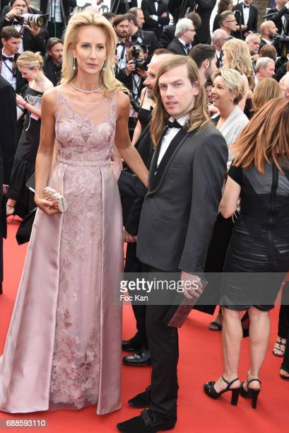 Lady Victoria Harveyand Christophe Guillarme attend the 70th anniversary event during the 70th annual Cannes Film Festival at Palais des Festivals...