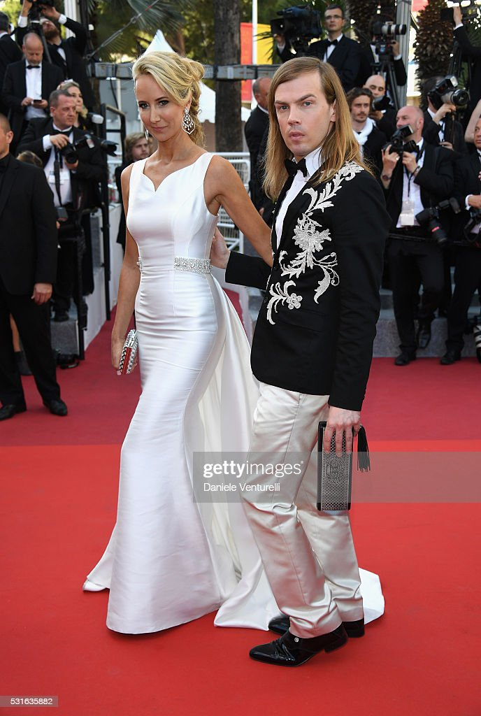 Lady Victoria Hervey and Christophe Guillarme attend the 'From The Land Of The Moon ' premiere during the 69th annual Cannes Film Festival at the...