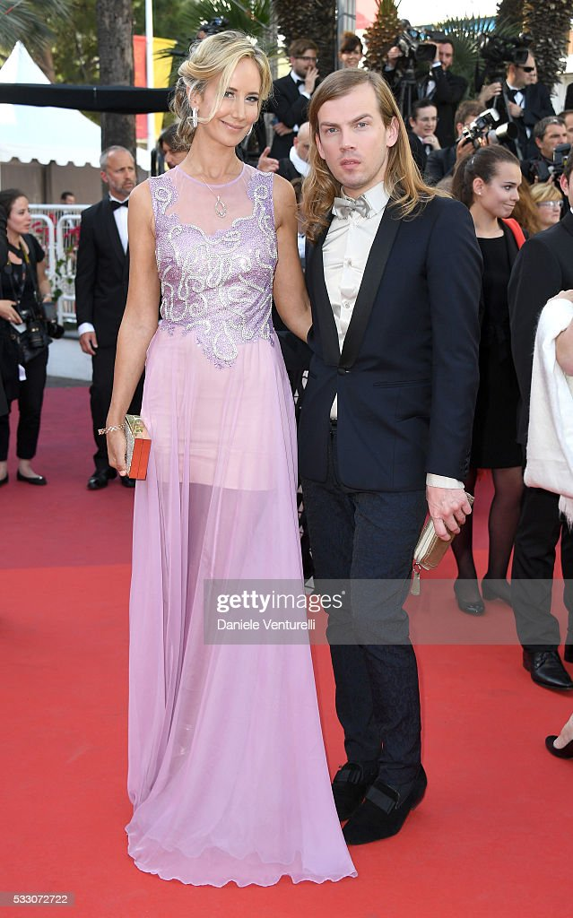 Lady Victoria Hervey and Christophe Guillarme attend 'The Last Face' Premiere during the 69th annual Cannes Film Festival at the Palais des Festivals...