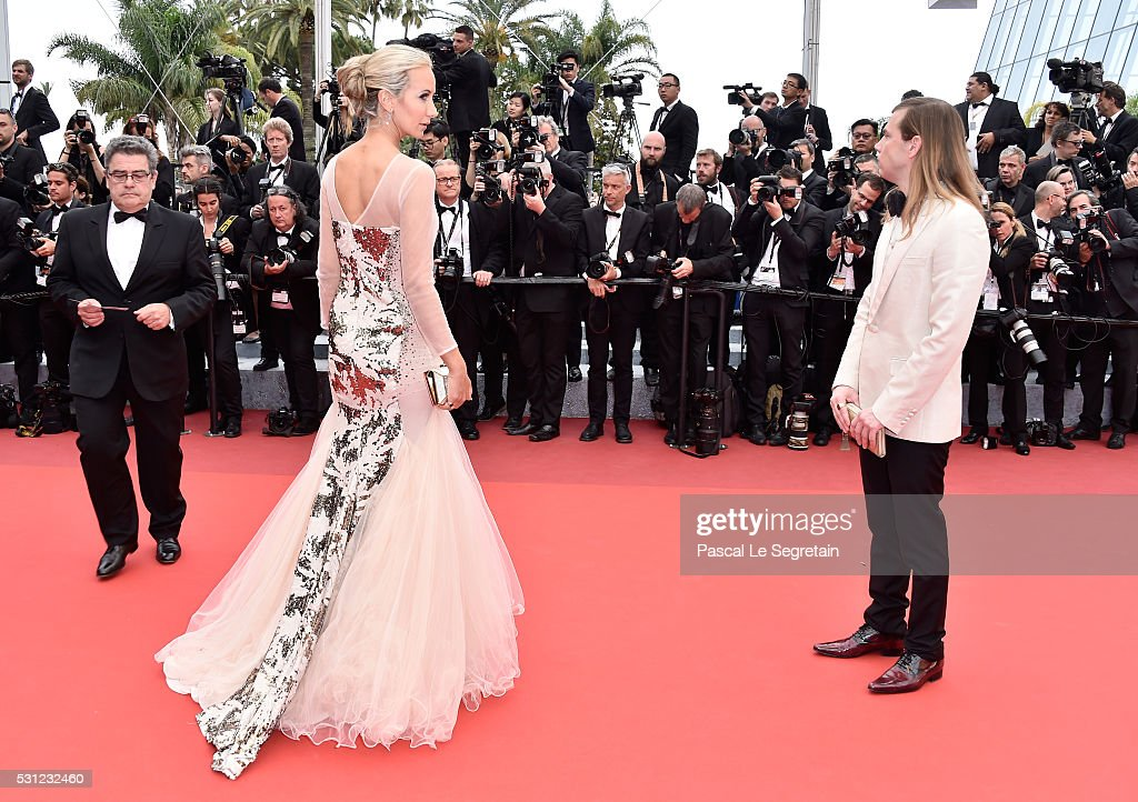 Lady Victoria Hervey and Christophe Guillarme attend the 'Slack Bay ' premiere during the 69th annual Cannes Film Festival at the Palais des...