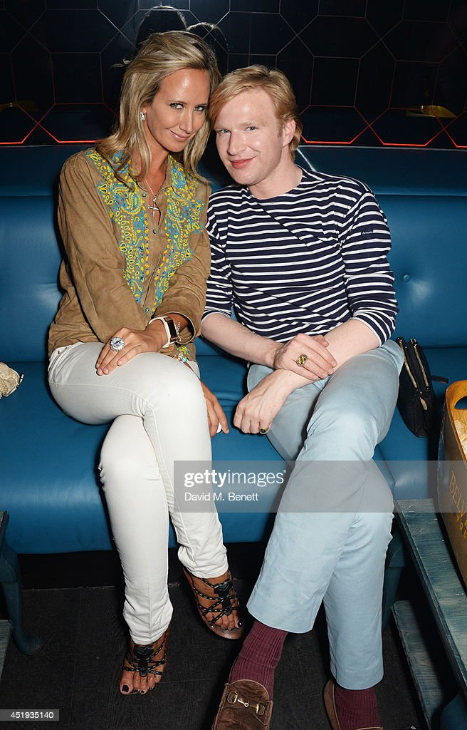 Lady Victoria Hervey (L) and Henry Conway attend Jo Wood and Yasmin Mill's Summer Party at Boujis on July 9, 2014 in London, England.
