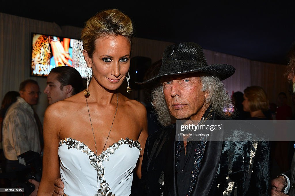 Lady Victoria Hervey and James Goldstein attend the amfAR Inspiration Miami Beach Party at Soho Beach House on December 6, 2012 in Miami Beach, Florida.