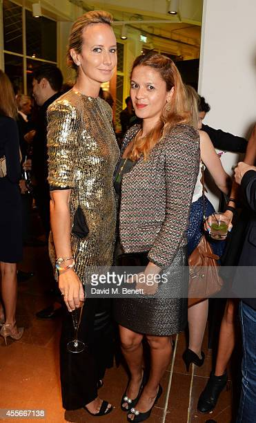 Lady Victoria Hervey and Lisa Moorish attends the launch of Manhattan Loft Gardens Harry Handelsman's newest property on September 18 2014 in London...